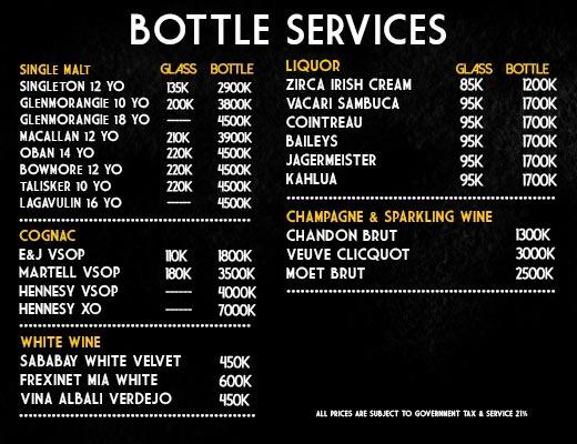 bottle services