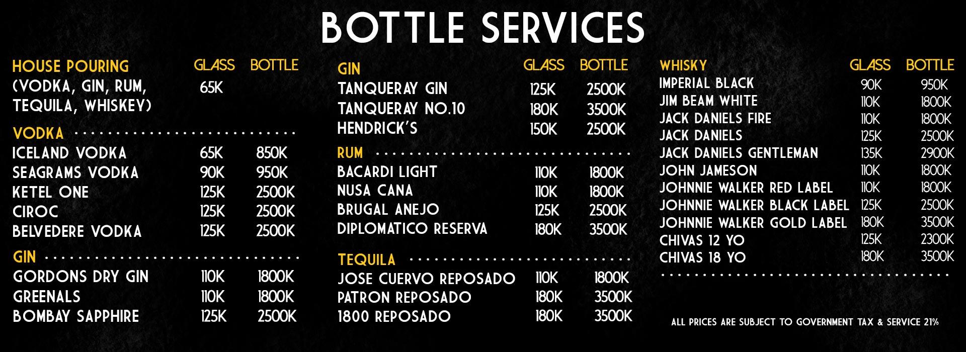 bottle services web
