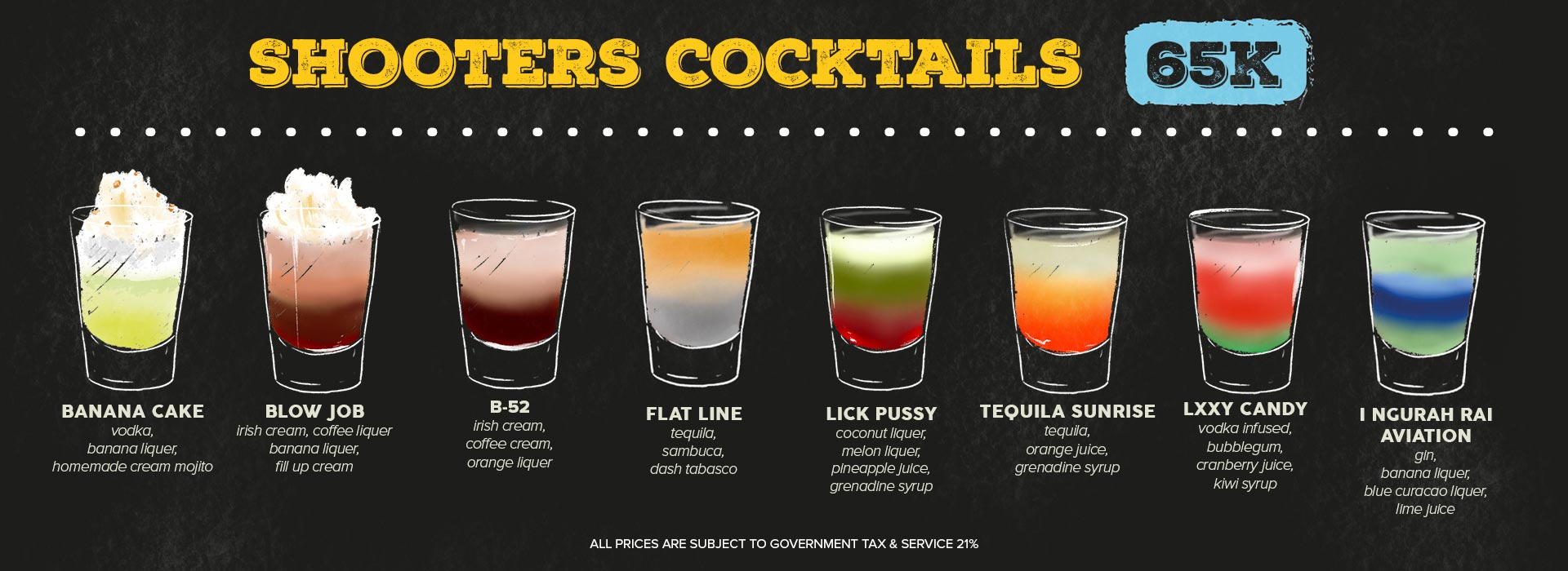 shooters cocktails